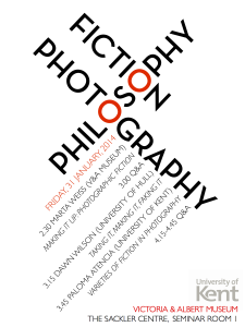 FICTION PHOTOGRAPHY AND PHILOSOPHY POSTER